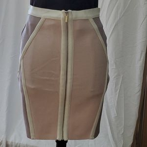 bebe Bandage Panel block Skirt size L NWT